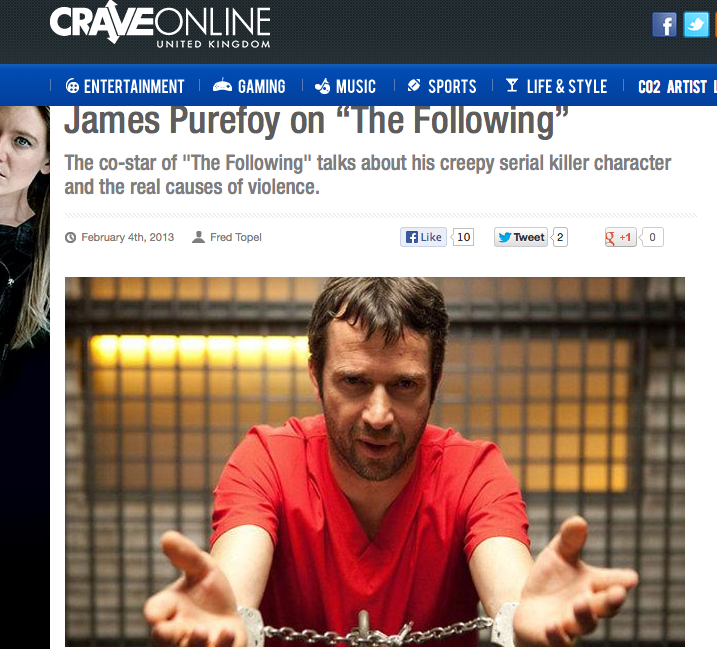 James Purefoy:  Speaking Shakespeare & how to be a successful actor