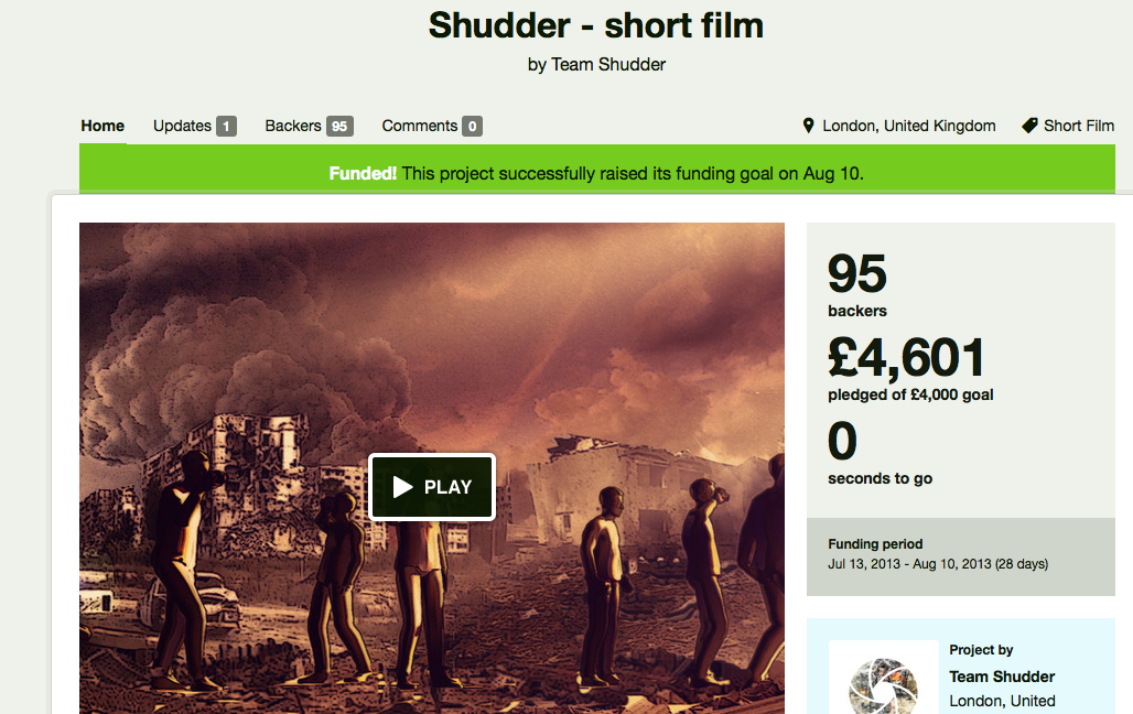 Run a successful Kickstarter campaign; have a 'Master of Explosions' pledge