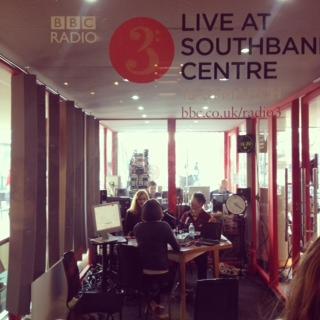 BBC Radio 3 studio at the Southbank Centre