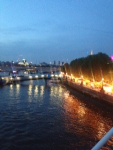 Southbank evening view,