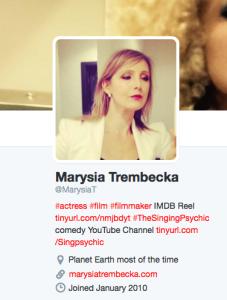 @MarysiaT Twitter bio