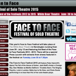 Face to face: festival of solo theatre