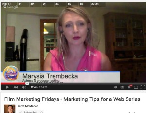 scott mcmahon marysia trembecka film marketing fridays marketing webseries songs of soho 4