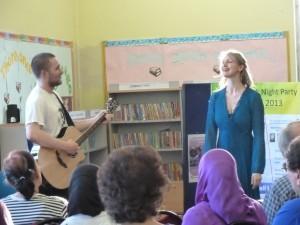 Tim and I singing