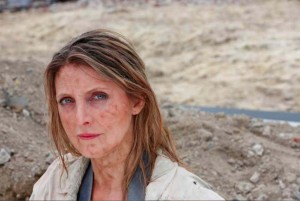 Shudder Production stills of me as a war photographer, yes that is real dirt!