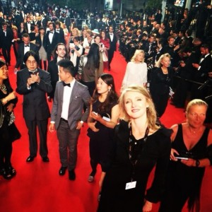 On the red carpet Cannes 2014 Marysie Trembecka