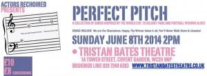 Perfect Pitch flyer Tristan Bates