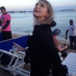 At the Scottish party at Long Beach, Cannes 2014, taken by a director who kept talking about the light