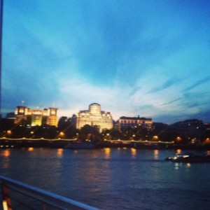 Shot from Royal Festival Hall, evening