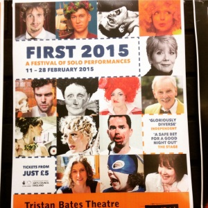 FIRST 2015 Poster for Tristan Bates Theatre