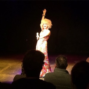 The Singing Psychic on stage Tristan Bates Theatre
